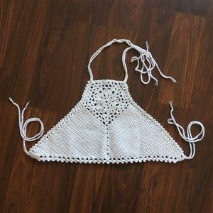 Tops - Crochet festival top, handmade, boho NWOT
